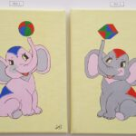 906_Zwei Elefanten, 2-teilig je 24x18_05-17